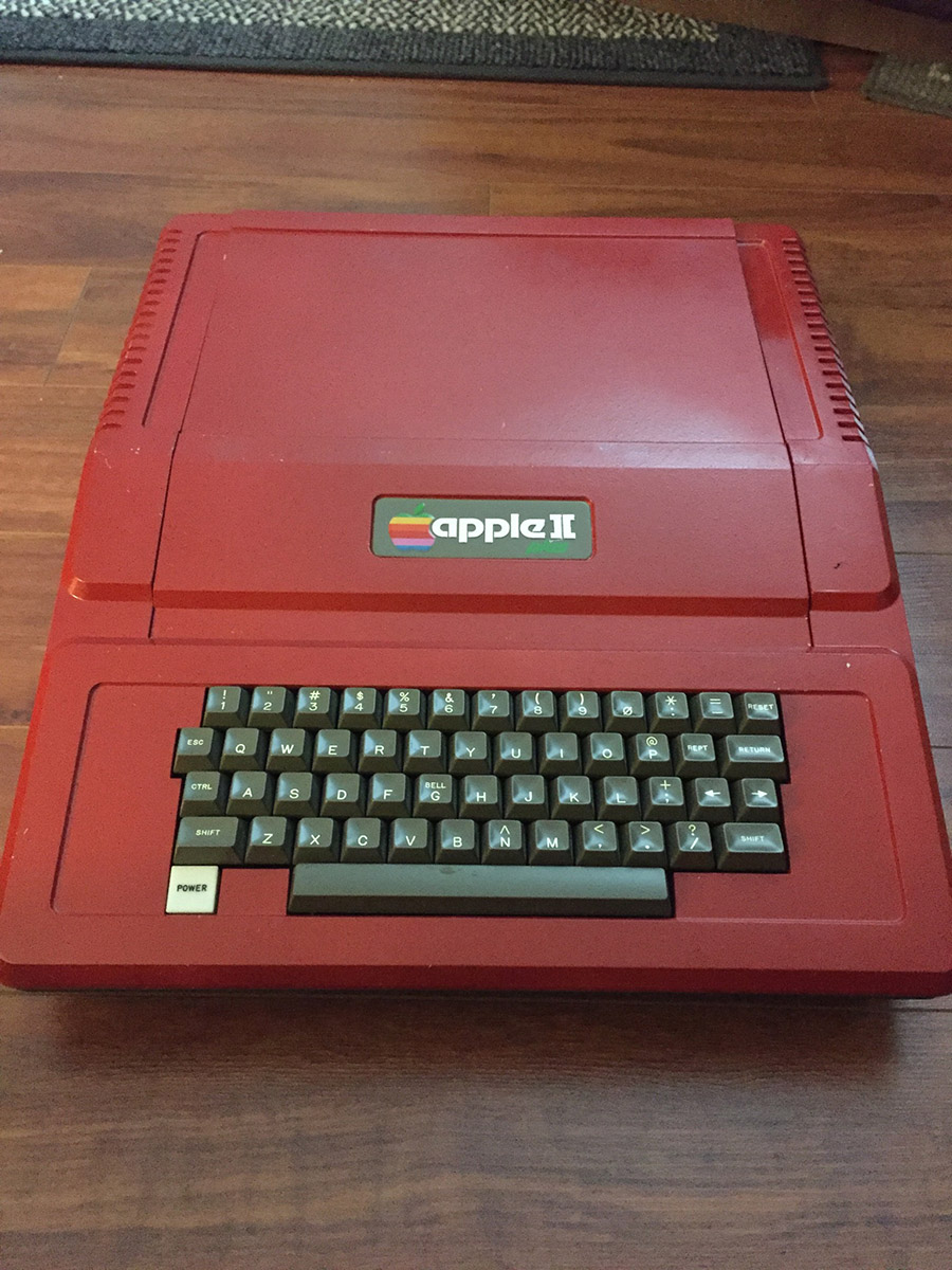 Apple II Plus (downward head-on angle)